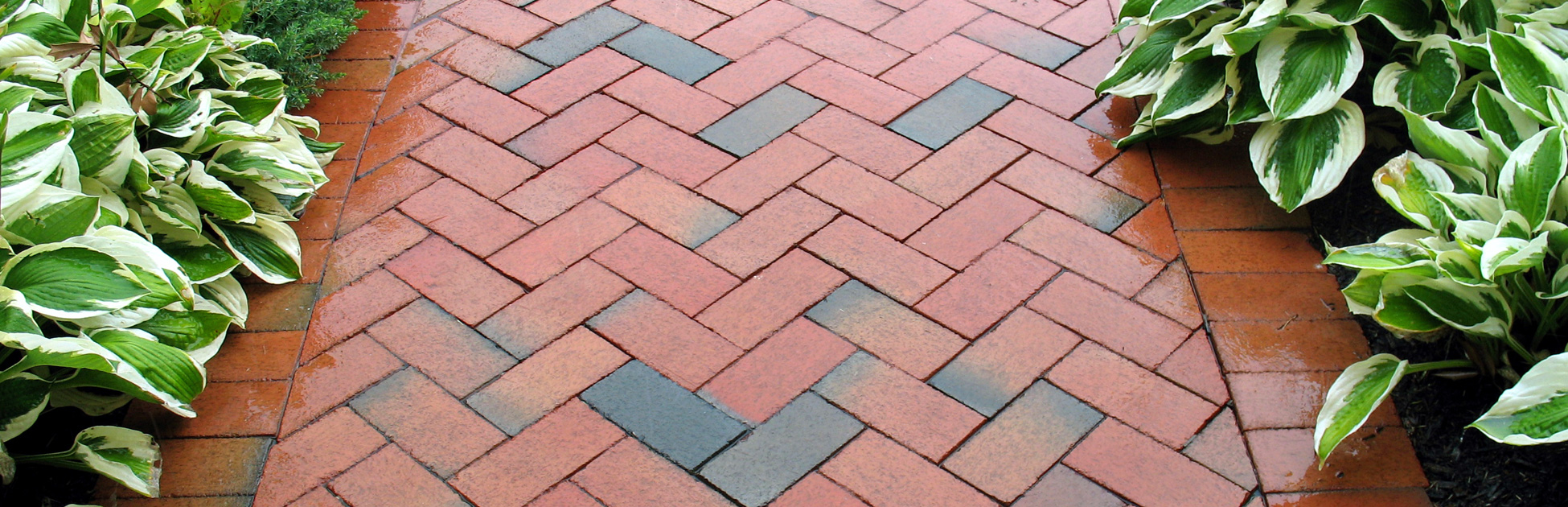 geometric design - brickwalk landscaping